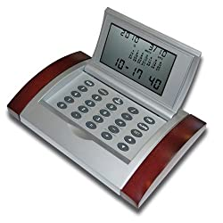 16 Cities World Executive Time Alarm Clock with Calculator--WR3688WD