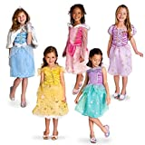 Disney Enchanting Disney Princess Costume Size XS [ 4 ] Ariel , Belle , Rapunzel , Cinderella , Sleeping Beauty , 5 Princesses Wardrobe Set for Girls -- 12-Pc.