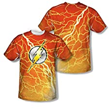 The Flash Lightning Logo All Over Print Front / Back T-Shirt