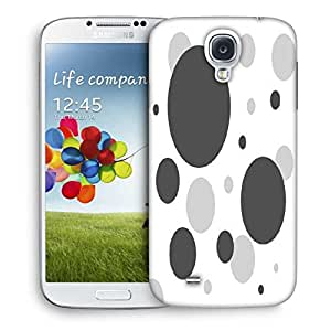 Snoogg Grey Blocks Printed Protective Phone Back Case Cover For Samsung S4 / S IIII