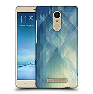 Snoogg Abstract Blue Pattern Printed Protective Phone Back Case Cover For Xiaomi Redmi Note 3