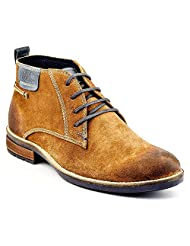 LEE COOPER MENS TAN SUEDE LEATHER BOOTS -UK9