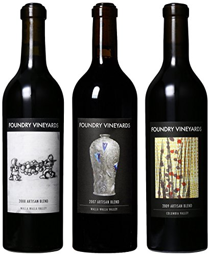 Foundry Vineyards Artisan Red Blend Vintage Vertical (07, 08, 09) Mixed Pack, 3 X 750 Ml