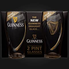 Guinness Embossed Glass 2 Pack