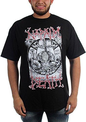 Napalm Death-povertà-Maglietta da uomo Nero  nero