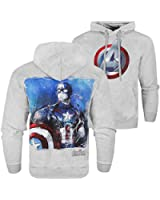 Official Marvel Avengers 2 Age Of Ultron 'Captain America' Hoodie Pullover - Grey