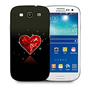 Snoogg Diamond Heart Printed Protective Phone Back Case Cover For Samsung S3 / S III
