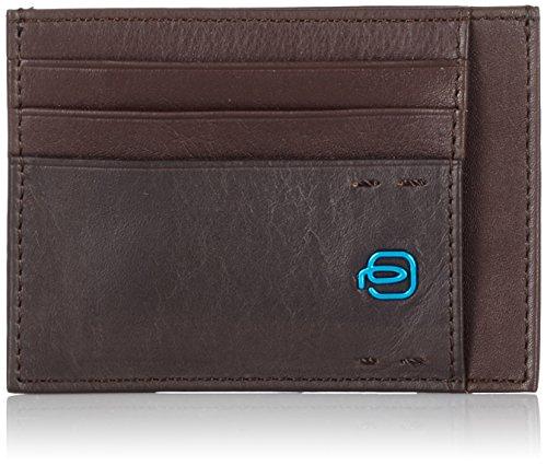 Piquadro PP2762P15/M Porta carte di credito, Linea Pulse, Marrone, 11 cm