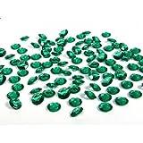 SiDeSo® Dekosteine smaragd grün 12mm Diamanten 100 Stück Acryl Tischdeko