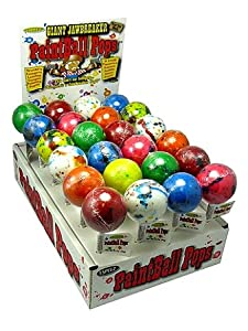 Espeez Candy Paintball Pops Giant Jawbreaker Lollipops - 24 count display