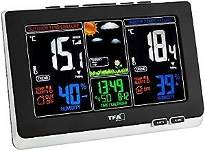 """TFA Dostmann 35.1129.01 """"Spring"""" Funk-Wetterstation mit farbig animierter Wettervorhersage und lokaler Wetterprognose anhand Luftdruckveränderungen, ideal auch zur Raumklimakontrolle mit Temperatur und Luftfeuchtigkeit"""