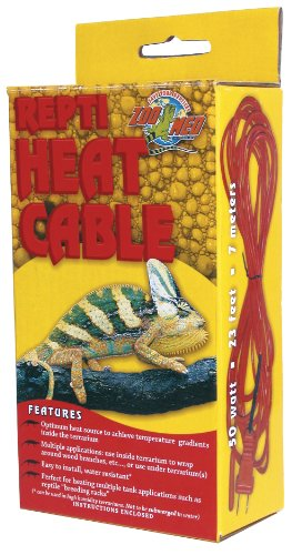 Zoo Med Reptile Heat Cable 50 Watts, 23 feet (50 Watt Heat Lamp compare prices)