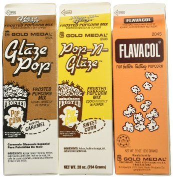 Flavacol Salt and Glaze Pop Flavoring 3 Pack (Gold Medal Seasoning compare prices)