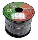 Pyramid RSW20100 20 Gauge 100 Feet Spool of High Quality Speaker Zip Wire
