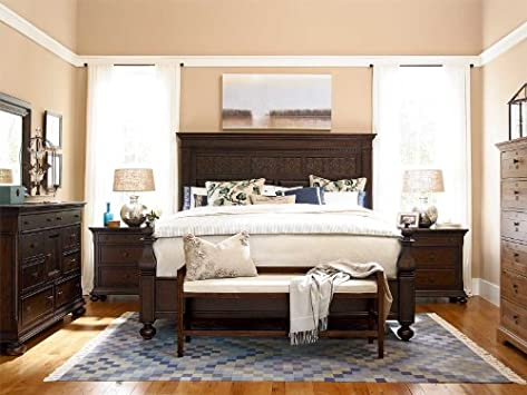 Elegant Universal Furniture Paula Deen Down Home PC Aunt Peggy us Bedroom Set in Molasses