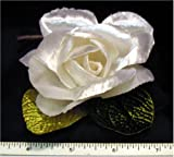 Lot of 12 White Velveteen Roses Crafts Weddings Floral Flowers