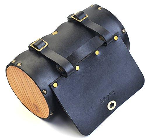 Vintage Bike Pure Leather Front Handlebar or Saddle Big Handle Bag 3L 3