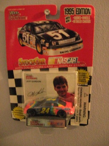 Racing Champions 1995 Jeff Gordon #24 1/64 scale diecast replica stock car with collectible card - 1