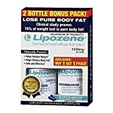 Lipozene - Amorphophallus Konjac Maximum Strength Fat Loss Supplement Bonus 2 bottles 1500 Mg. (30 caps each)