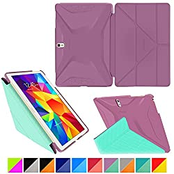 roocase Samsung Galaxy Tab S 10.5 Case - Origami 3D [Radiant Orchid / Mint Candy] Slim Shell 10.5-Inch 10.5' Smart Cover with Landscape, Portrait, Typing Stand