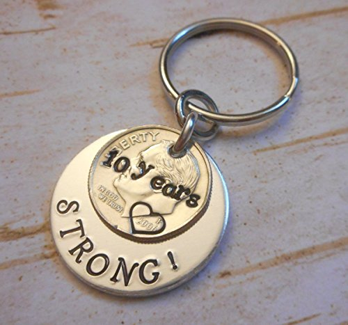 10-Years-Strong-2006-Dime-Key-Chain-Wedding-Anniversary-Gift-for-Him-or-Her