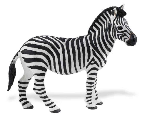 Safari Ltd Wild Safari Wildlife - Zebra - Realistic Hand Painted Toy Figurine Model - Quality Construction from Safe and BPA Free Materials - For Ages 3 and Up