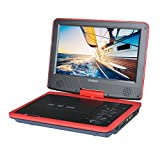 SYNAGY A29 9inch Portable DVD Player CD Player by SYNAGY with Swivel Screen, Red