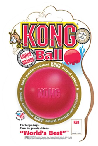KONG Ball Dog Toy, Medium/Large, Red