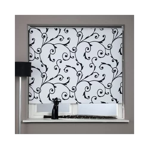 Sunlover Patterned Thermal Blackout Roller Blind, Virginia, W180cm