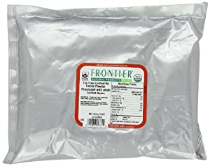 Frontier Fair Trade Cocoa Powder Processed with Alkali Certified Organic, 16-Ounce Bag