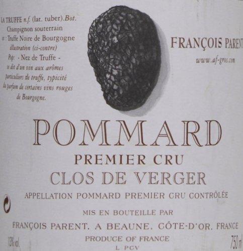 2000 Francois Parent Pommard Clos De Verger Burgundy Pinot Noir 750 Ml