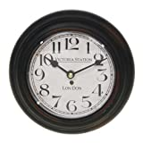 Vintage Style Dark Metal Victoria Station London Wall Clock 21cm