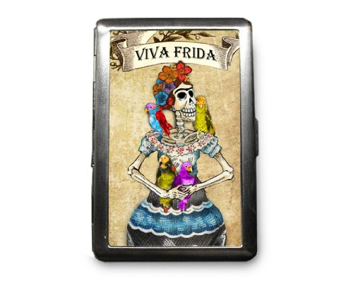 Day of the Dead Decorated ID Cigarette Case Wallet - CD129
