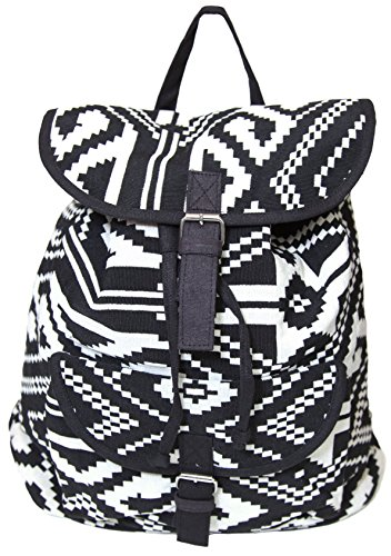 Carolina Sweethearts Woven Aztec Black and White Backpack With Magnetic Closure (Ll Bean Womens Quilted Jacket compare prices)