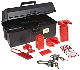 North Safety LK107FE Lockout/Tagout Toolbox Kit, 15 Pieces