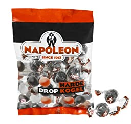 Napoleon - Since 1912 HARDE Drop Kogel Kogel (Hard Candy Filled with Licorice Powder)2 Bags ea are 225gram