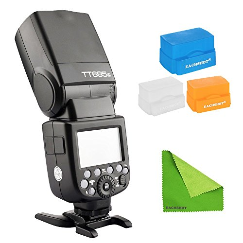 Godox-TT685S-24G-HSS-18000s-TTL-GN60-Wireless-Speedlite-Flash-for-Sony-A7-A7R-A7S-A7-II-A7R-II-A7S-II-A6300-A6000-with-EACHSHOT-Cleaning-Cloth