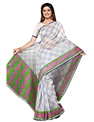 Designer Amiable Off White Color Printed Cotton Saree By Triveni