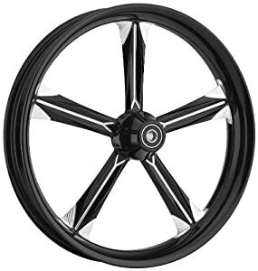 Ride Wright Chief Wheel 21 X 3.25 Black for Harley Davidson