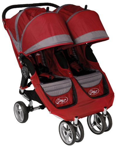 Baby Jogger 2011 City Mini Double Stroller - Crimson/Gray - 81176