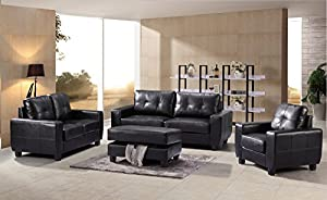 Glory Furniture G203 3 Piece Living Room Set In Black