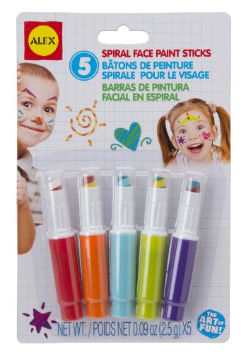 ALEX Toys Artist Studio 5 Spiral Face Paint Sticks