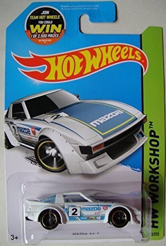 Hot Wheels, 2015 HW Workshop, Mazda RX-7 [White] Die-Cast Vehicle #193/250 - 1