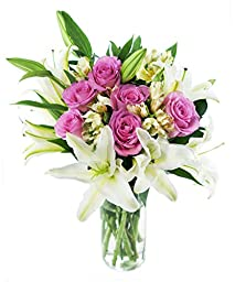 High Society Bouquet for Mother\'s Day, With Vase