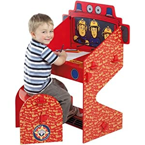 Fireman Sam Desk And Stool