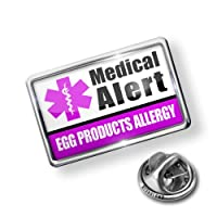 Pin Medical Alert Purple Egg Products Allergy - Lapel Badge - NEONBLOND by NEONBLOND