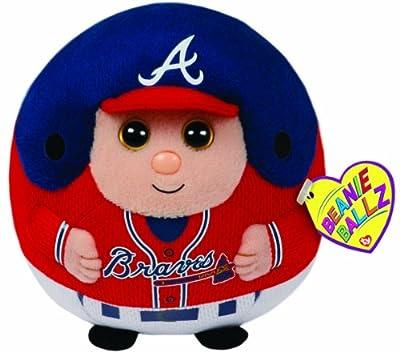 Ty Beanie Ballz MLB Atlanta Braves Medium Plush