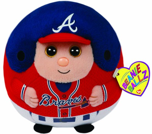 Ty Beanie Ballz Mlb Atlanta Braves Medium Plush front-908364