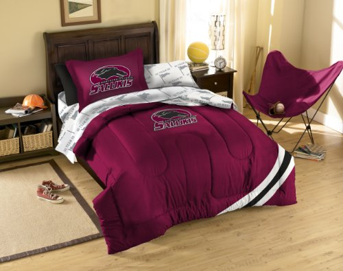 NCAA Southern Illinois Salukis Bedding Set, Twin