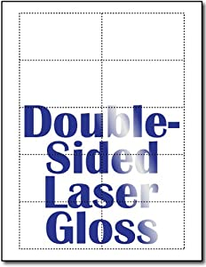 Business Cards, Double Sided Laser Gloss - 250 Sheets / 2500 Business Cards